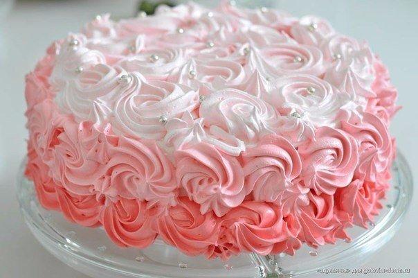 Крем на белках для торта