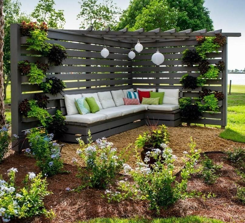 Уютные уголки в саду своими руками фото 40