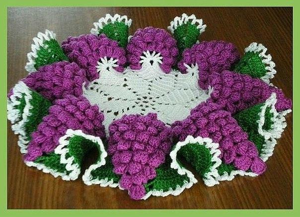 Вязание с виноградами