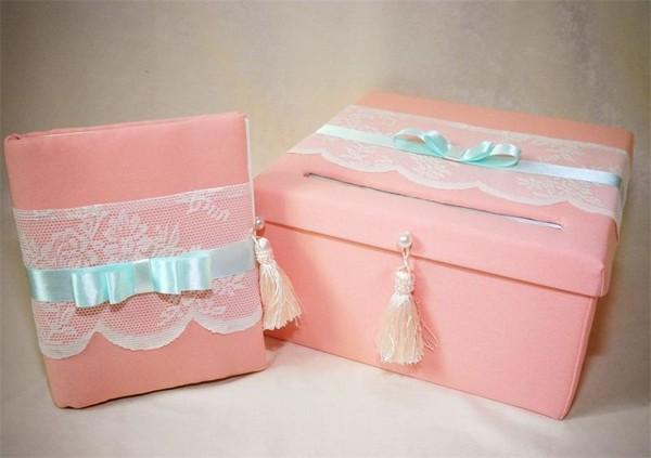 Оформление свадебных коробок для денег своими руками